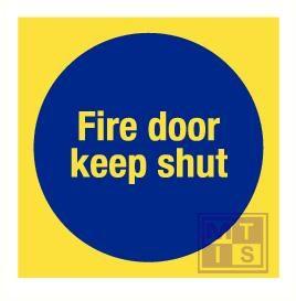 Imo fire door keep shut vinyl fotolum 150x150mm