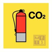 Co2 fire extinguisher fotolum vinyl 150x150mm
