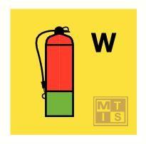 Water fire extinguishinr fotolum vinyl 150x150mm