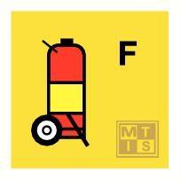 Foam wheeled fire extinguisher fotolum vinyl 150x150mm