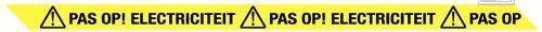 Lint Pas op! Electriciteit 75mmx300mtr geel/zwart