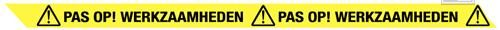 Pas op! Werkzaamheden lint 75mmx300mtr geel/zwart