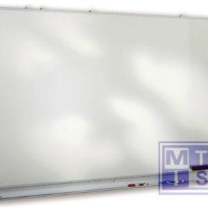 Witte schrijfborden staal 400x120cm
