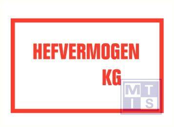 Hefvermogen kg vinyl 250x150mm