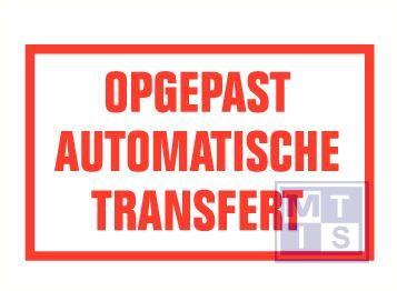 Opgepast auto.transfert vinyl 400x250mm
