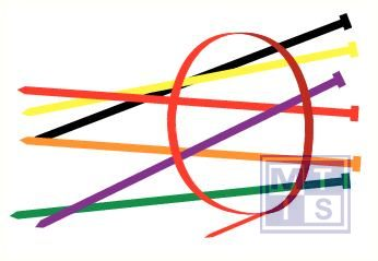 Kabelbandjes geel nylon 200mm