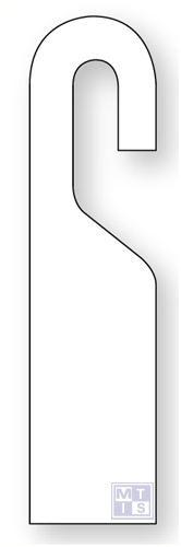 Beschrijfbare label open bevestiging pvc wit blanco 70x280mm