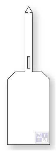 Beschrijfbare label met sluiting pvc oranje blanco 85x275mm