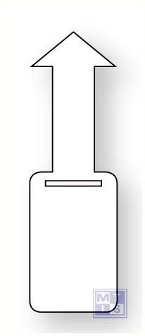 Beschrijfbare label met sluiting pvc oranje blanco 50x160mm