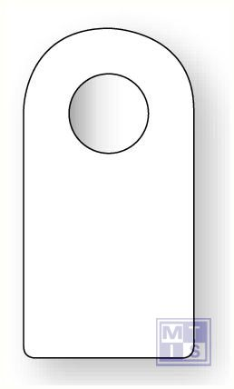 Beschrijfbare label gesl bevestiging pvc blauw blanco 75x145