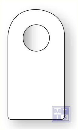 Beschrijfbare label gesl bevestiging pvc oranje blanco 75x14