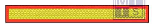 Achter markering alu 1132x135mm