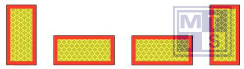 Lengtebord geprofileerd set van 4 283x135mm