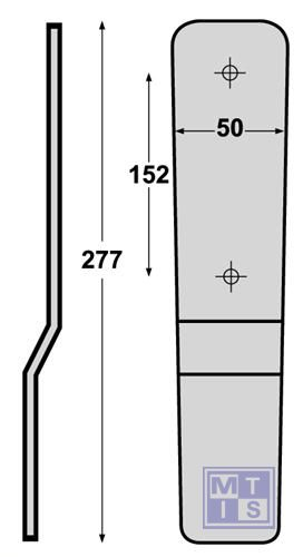 Bevestigingsstrip gegalvaniseerd staal 277x50mm