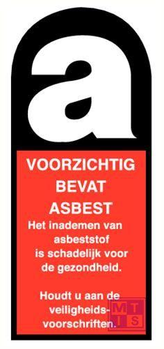Voorzichtig, bevat asbest pp 140x300mm