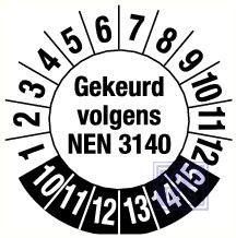 NEN 3140 6jr standaard 30mm 9/vel