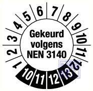 NEN 3140 6jr standaard 20mm 15/vel