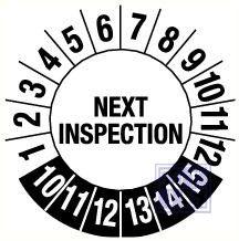 Next inspection 4jr fragmenteerbaar 30mm 9/vel