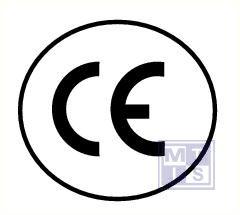 """""""CE"""" rond 3/vel vinyl 50 mm"""