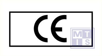 """""""CE"""" vierkant 5/vel vinyl 50x35mm"""