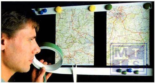Metaalband zelfklevend 35mm wit, dikte 0.3mm, lengte 25m