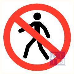 Verboden voor voetgangers vinyl 90mm