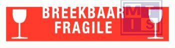 Breekbaar/ fragile vinyl 200x50mm