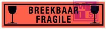 Breekbaar/fragile vinyl 200x50mm
