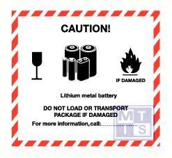 Caution lith metal vinyl 120x110mm