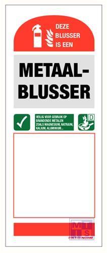 Gebruiksaanw. metaalblusser zelfklevend pp 80x200mm