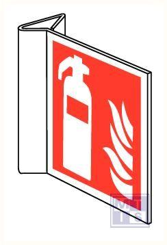 Brandblusser/vlam haaks pvc 200x200mm