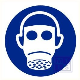 Adembescherming verplicht vinyl 200mm