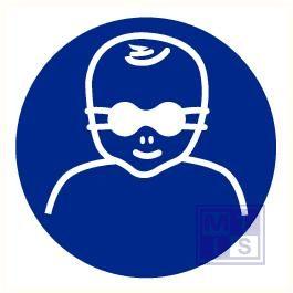 Opaak veiligheidsbril voor kinderen verplicht vinyl 400mm