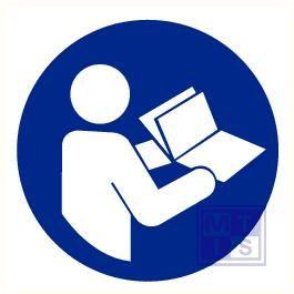 Instructies lezen verplicht vinyl 90mm