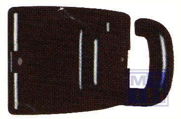 Muurplaat zwart voor koord zwart