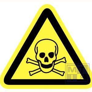 Giftige stoffen retrorefl. 90mm