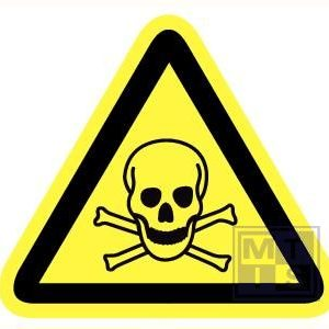 Giftige stoffen vinyl 90mm