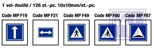 Mini pico Aanwijzing fietspad 126x  10x10mm