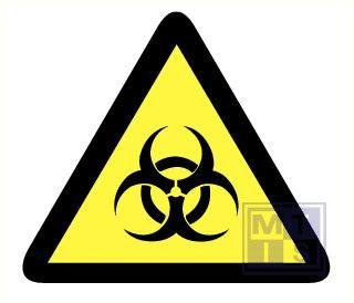 Mini picto Biologisch gevaar 15x 25x28mm