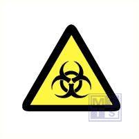 Mini picto Biologisch gevaar 54x 15x15mm