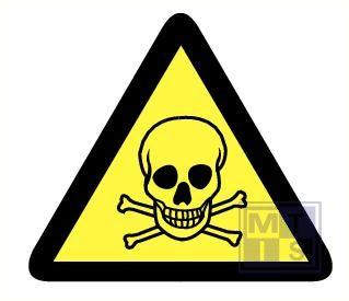 Mini picto Giftige stoffen 15x 25x28mm