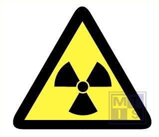 Mini picto Radioactieve stof 15x  25x28mm