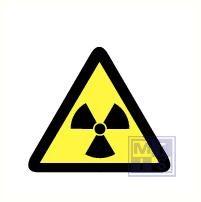 Mini picto Radioactieve stof 54x 15x15mm