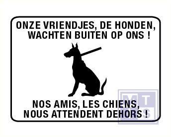 De honden wachten buiten+ frans pp 200x140mm