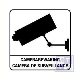 Camerabewaking + franstal. vinyl 100x100mm