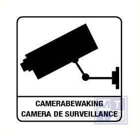 Camerabewaking + franstal. vinyl 150x150mm