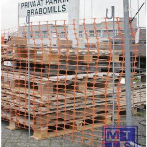 Afbakeningsnetten rol oranje 50m, 1m hoog 8kg