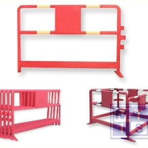 Opvulbaar hek high density polythyleen rood 1500x1000mm