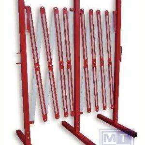 Harmonicahek tot 400cm 100cm hoog/rood/wit