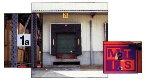 Magazijnsignalisatie rood enkelzijdig pp 300x300mm